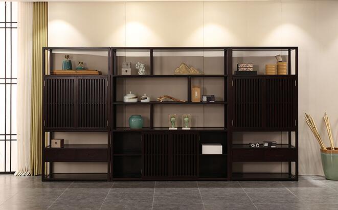 现代新中式书柜