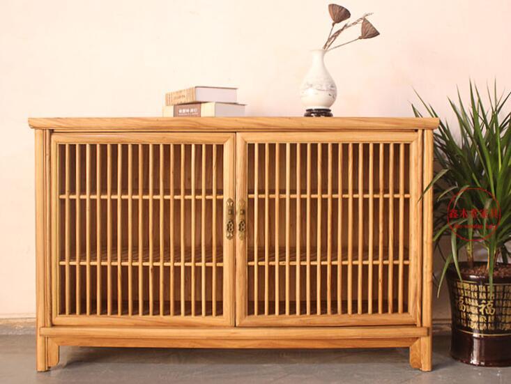 中式茶水柜实木